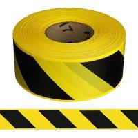 Black/Yellow Striped Barricade Tape