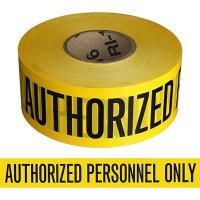 Authorized Personnel Only Barricade Tape