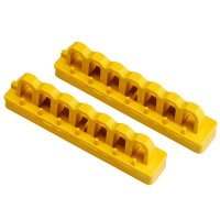 "Brady 51264 Yellow 4"" Mounting Rails - Pack of 2"
