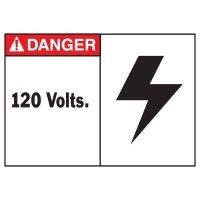 Danger 120 Volts Equipment Decal
