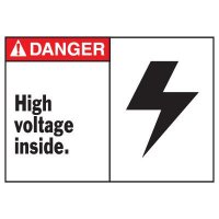 Danger High Voltage Equipment Decal