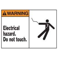 Warning Electrical Hazard Equipment Decal