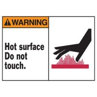 Warning Hot Surface Equipment Decal