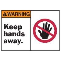 Warning Keep Hands Away Equipment Decal