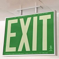 Photoluminescent Exit Sign Ceiling Mount Bracket