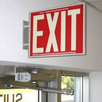 Photoluminescent Exit Sign Side Mounting Bracket