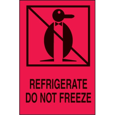 International Shipping Labels-  Refrigerate Do Not Freeze
