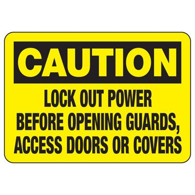 Lock-Out Signs - Caution Lockout Power