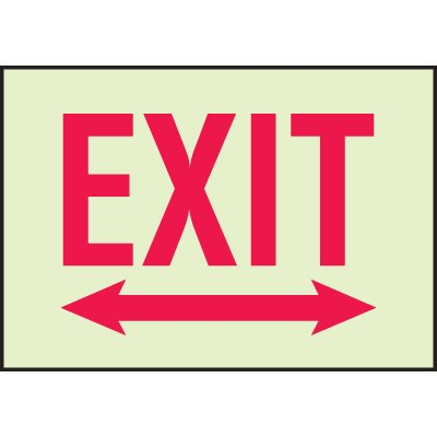 Luminous Doubled Arrow Fire Exit Signs