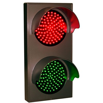 Vertical Direct View Signs - Red/Green
