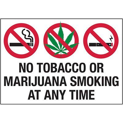 No Smoking Labels - No Smoking At Anytime Labels
