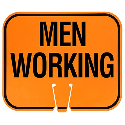 Plastic Traffic Cone Signs- Men Working