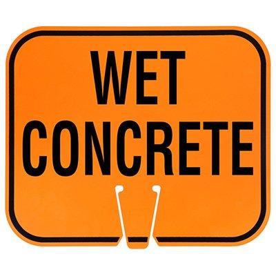 Plastic Traffic Cone Signs- Wet Concrete