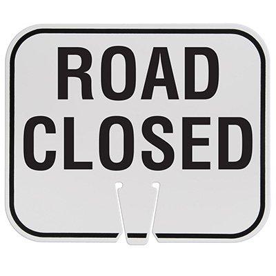 Plastic Traffic Cone Signs- Road Closed