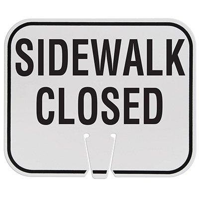 Plastic Traffic Cone Signs- Sidewalk Closed