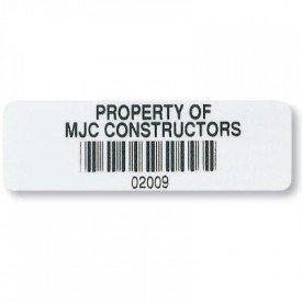 Custom Industrial Bar Code Asset Labels