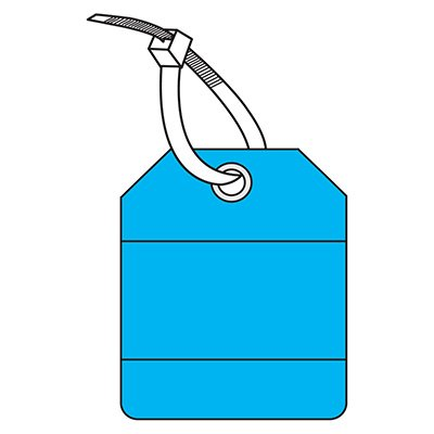 Rectangular Blank Heavy-Duty Plastic Tag