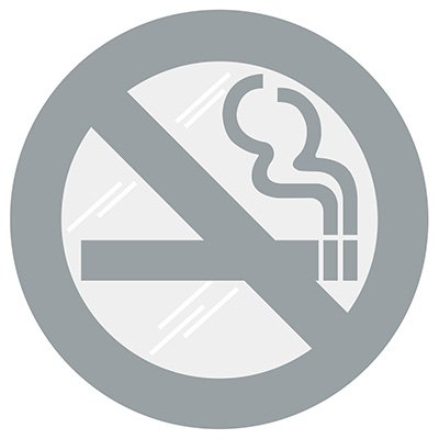 No Smoking Symbol Window Decal