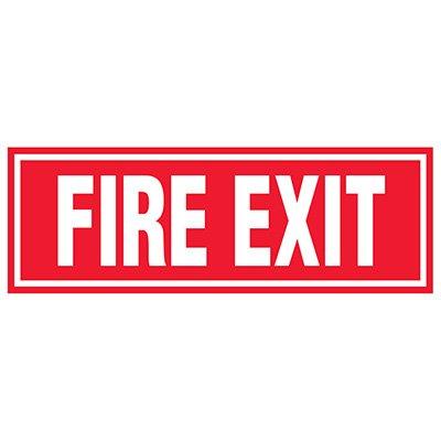 Fire Exit Label