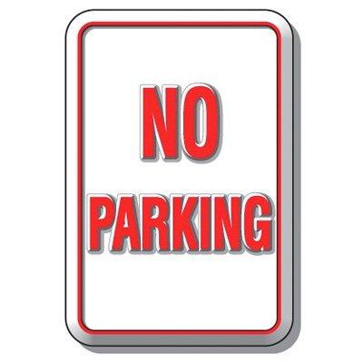 3-D No Parking Sign