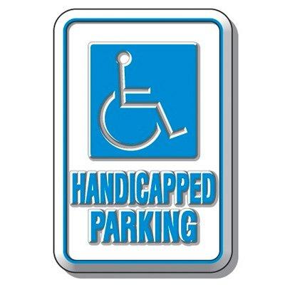 3-D Handicapped Parking Sign