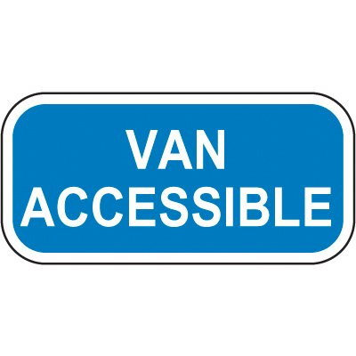 Add-On Handicap Parking Signs - Van Accessible