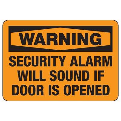 Security Alarm Signs - Security Alarm Will Sound