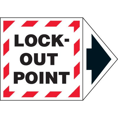 Arrow Labels - Lock-Out Point