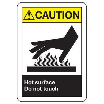 ANSI Signs - Caution Hot Surface Do Not Touch