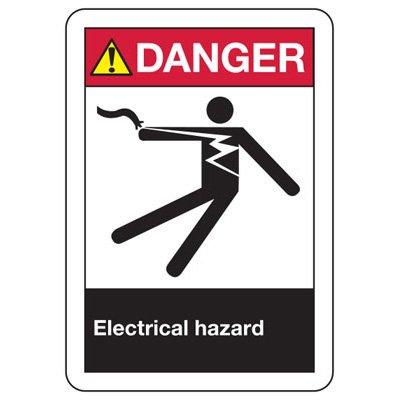 ANSI Signs - Danger Electrical Hazard