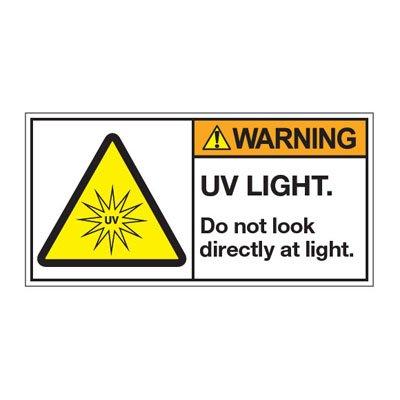 ANSI Warning Labels - Warning UV Light