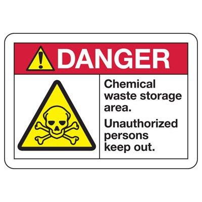 ANSI Safety Signs - Danger Chemical Storage