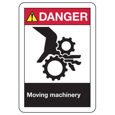 ANSI Danger Moving Machinery Signs