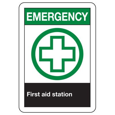 ANSI Signs - Emergency First Aid Station