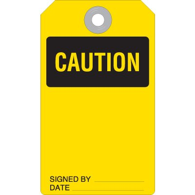 Caution Accident Prevention Tag