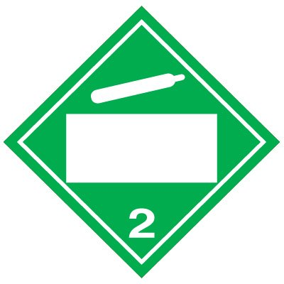 Blank D.O.T. Placards - Non-Flammable Gas