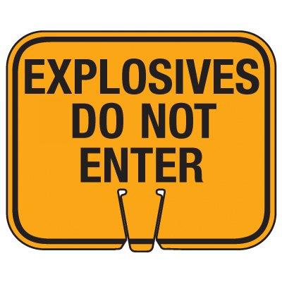 Blasting Cone Sign - Explosives Do Not Enter