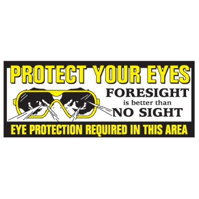 Eye Protection Required Banner