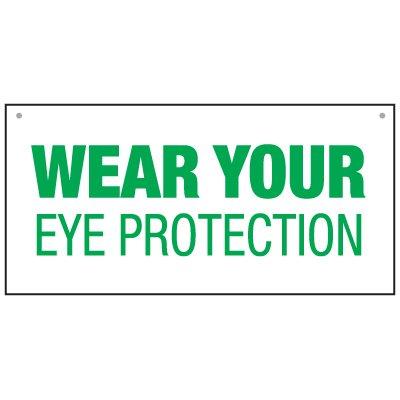Bulk Warehouse Signs - Wear Eye Protection