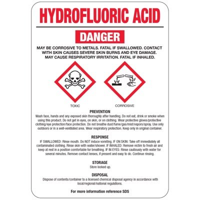 Chemical GHS Signs - Hydrofluoric Acid