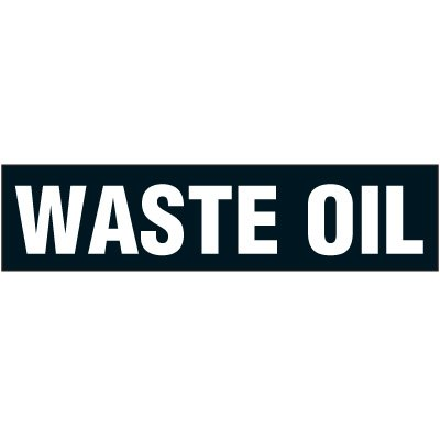 Chemical Labels - Waste Oil 2-1/4 x 9