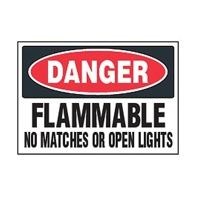 Chemical Safety Labels - Danger Flammable