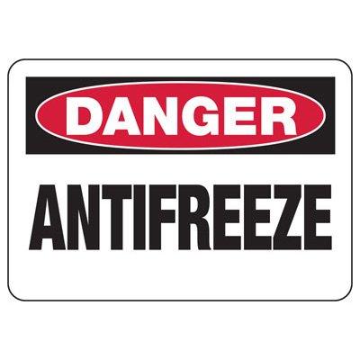 Chemical Warning Signs - Danger Antifreeze