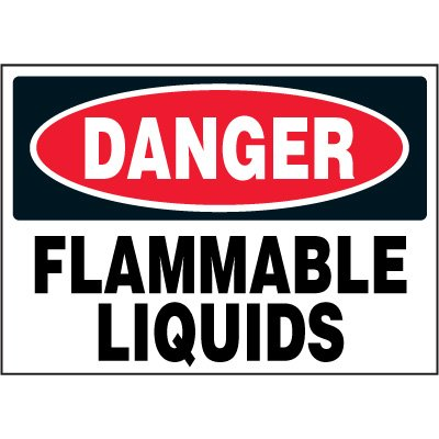 Chemical Labels - Danger Flammable Liquids