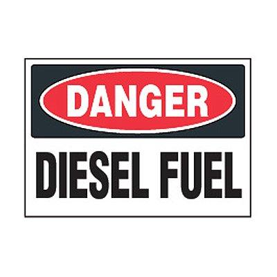 Chemical Safety Labels - Danger Diesel Fuel