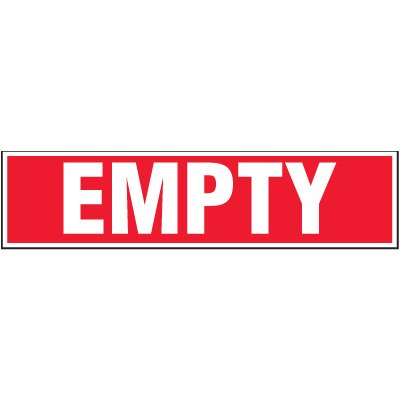 Chemical Labels - Empty 2-1/4 x 9