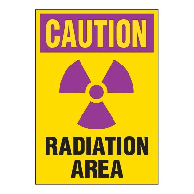 Chemical Radiation Labels - Radiation Area