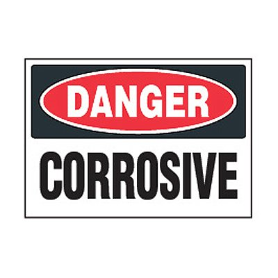 Chemical Safety Labels - Danger Corrosive