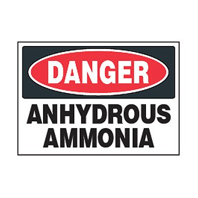 Chemical Safety Labels - Danger Anhydrous Ammonia