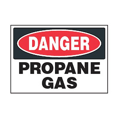 Chemical Safety Labels - Danger Propane Gas